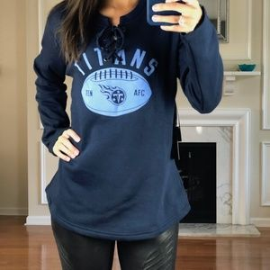 Tennessee Titans Lace Up Jersey Style Sweater L